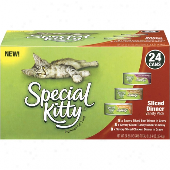 Special Kitty Premium Sliced Dinner Variety Pack 5.5 Oz Cat Food, 24ct