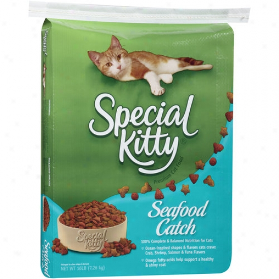 Special Kitty Seafood Catch Cat Food 16 Lb