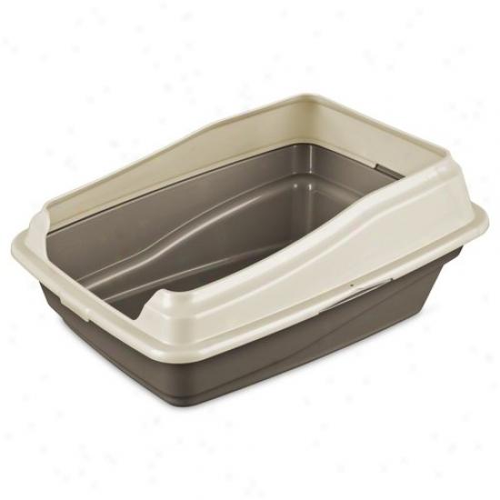 Sterilite Framed Litter Pan, Driftwood/seashells