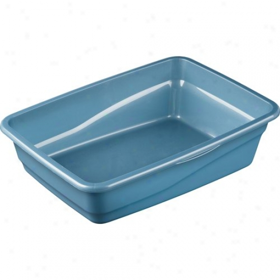Sterilite Small Cat Litter Pan, Marina Blue