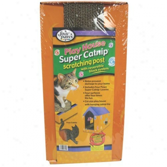 Super Catnip Cat Scratcher House