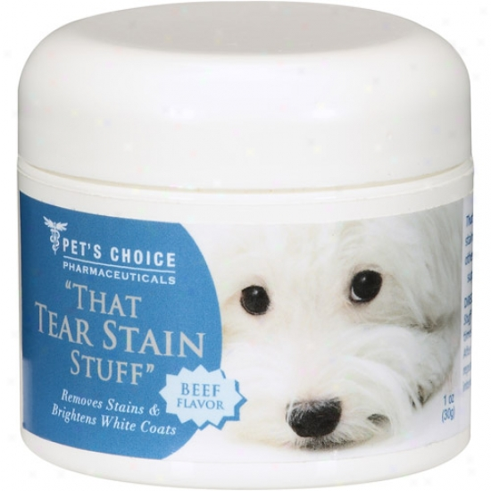 Tear Stain Stuff Beef Flavor Supplemen tFor Dogs And Cats, 1 Oz