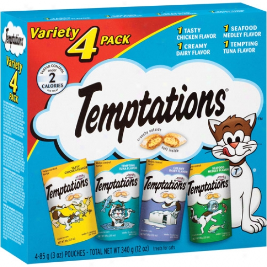 Temptations Multiplicity 4 Pack Treats For Cats, 3 Oz, 4 Count