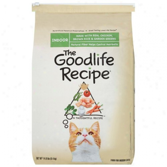 The Goodlife Receipt Indoor Drry Cat Food With Real Chicken Brown Rice & Garden Greens, 14 Lb