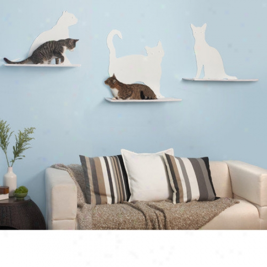 The Refined Feline 23'' Cat Silhouette Cat Shelf (set Of 3)