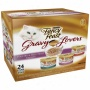 Fancy Entertain sumptuously Gourmet Gravy Lvers Poulrry And Beef Feast Variety Cat Food, 3 Oz, 24-pack