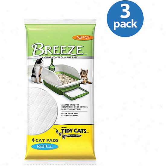 Tidy Cats Breeze Cover with straw Pad eRfi1l, 4ct, 3pk Value Bundle