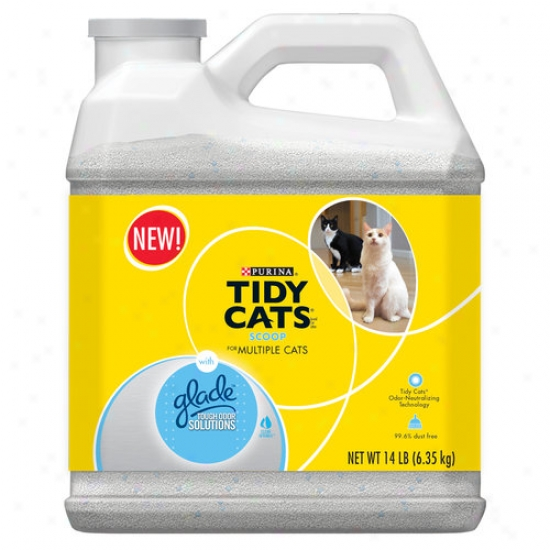 Tidy Cats Scoop Cat Litter For Multiple Cats, 14 Lb