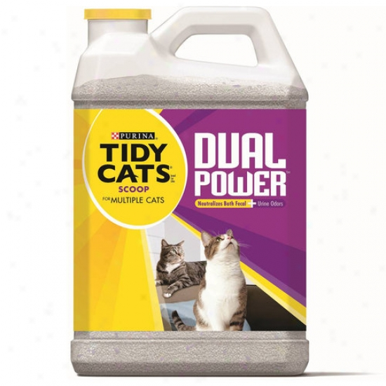 Tidy Cats Scoop Dual Power Cat Litter For uMlyiple Cats, 20 Lbs