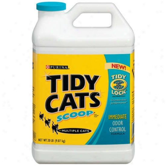 Tidy Cats Scooop Immediate Odor Control Cat Box Filler, 20 Lb