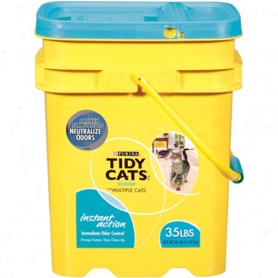 Tidy Cats Scoop Instant Acion Cat Littter, 35 Lb