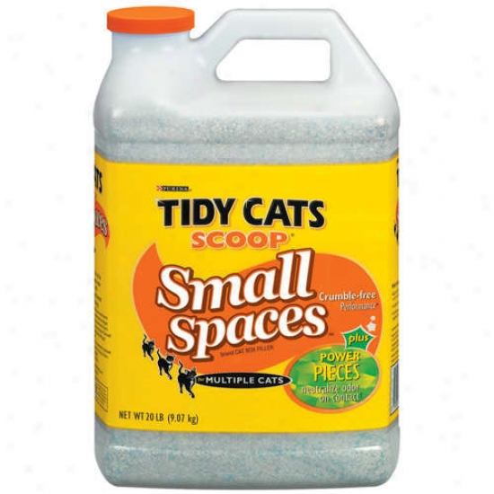 Tidy Cats Scoop: Little Spaces Cat Box Filler, 20 Lb