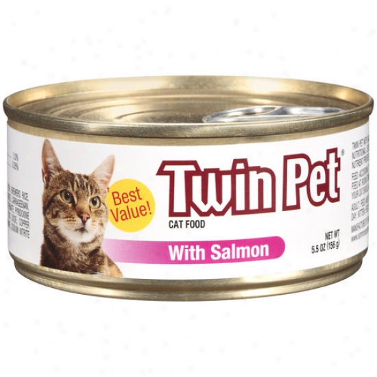 Doubled Pet Cat Food With Salmon, 5.5 Oz