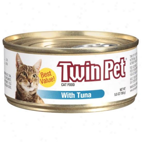 Twin Pet Cat Food With Tuna, 5.5 Oz