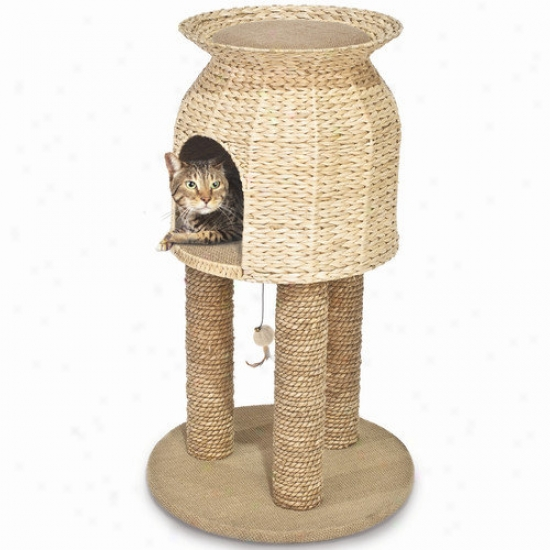 Ware Mfg Hyacinth And Jute Scratch And Sleep Tower