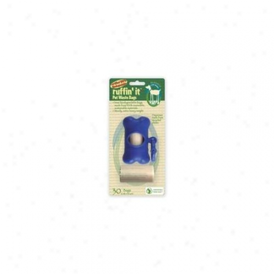 Westminster Pet 830-19315 Westminster Pet 19315 Ruffin It Biodegradable Pet Waste Bags And Dispenser 2 Rolls Of 15 Bags