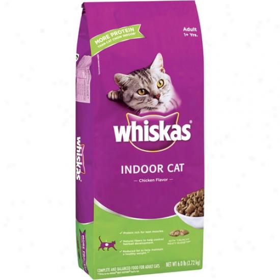 Whiskas Indoor Cat Chicken Flavor Cat Food, 6 Lb