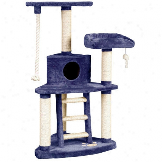 Whisker World 51'' Tri-level Amusement Center Cat Tree