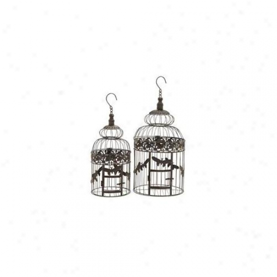 Woodland Import 66565 Birr Cage With Light Weight And Durable - Set Of 2