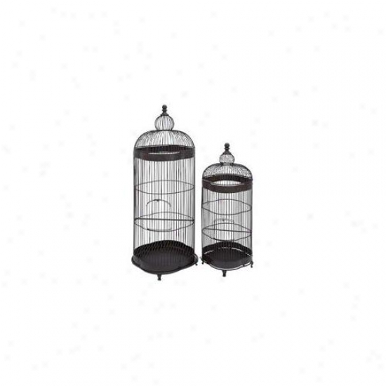 Woodland Import 96908 Metal Bird Cage Designed With Fine Attention To Detail