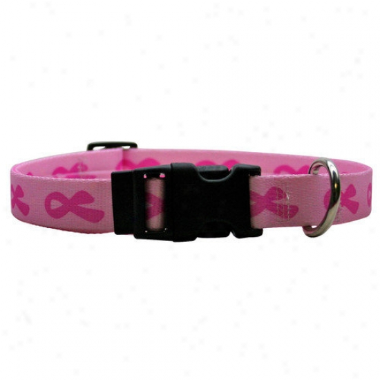 Yellow Dog Design Breast Cancer Standard Collar