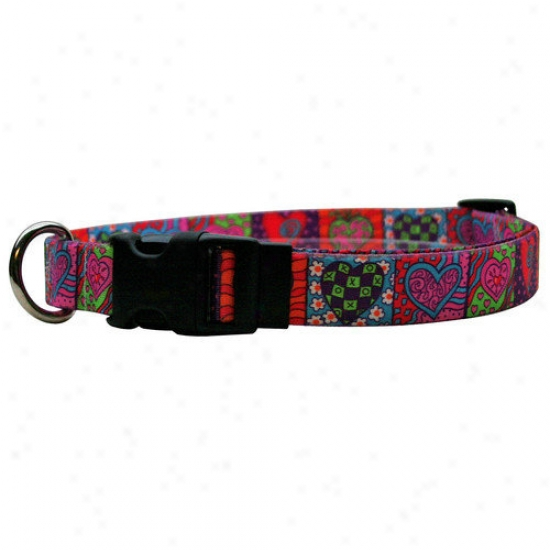 Yellow Dog Design Crazy Hearts Standard Collar