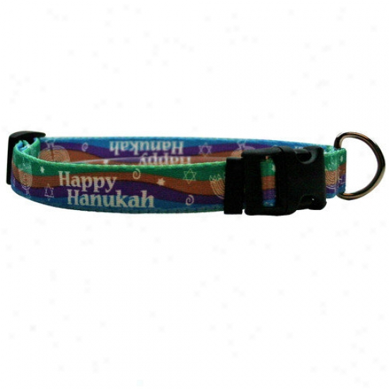 Yellow Dog Design Happy Hanukah Standard Collarr