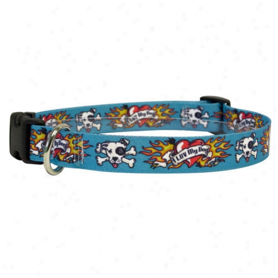 Golden D0g Design I Luv My Dog Standard Collar