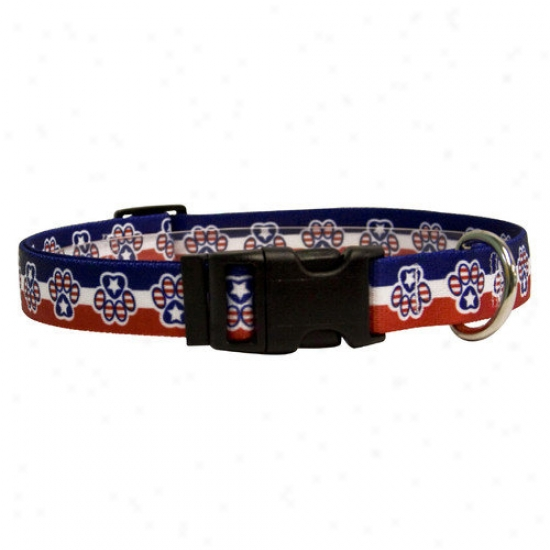 Yellow Dog Design Patriotic Paws Standrad Collar