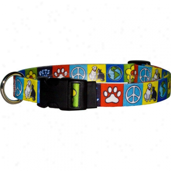 Yellow Dog Design Pets For Peace Standard Collar