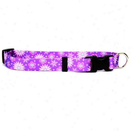 Yellow Dog Design Purple Flowerz Standard Collar