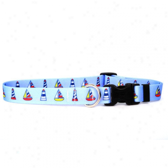 Yellow Dog Design Sailboats And Lighthouses Standard Collar