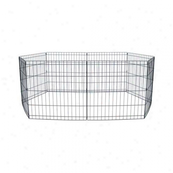 Yml 8 Panel Animal Play Pen With Door In Black