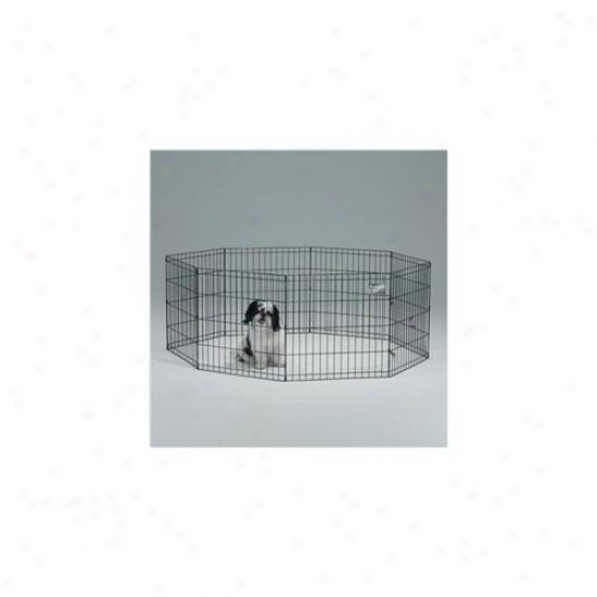 24 X 42 Inch Exercise Pen With Door - Black  - 556-42dr