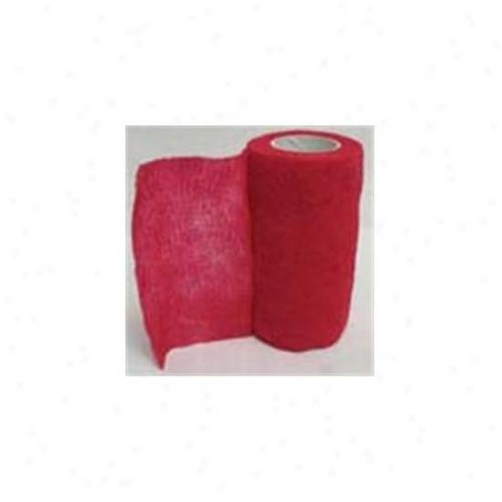 4 Inch X 5 Three feet Wrap-it-up Flex Bandage - Red  - 40713401