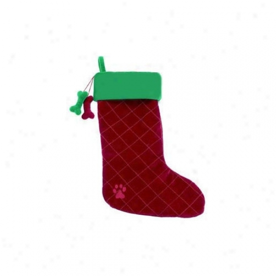A Pet's Earth Dangling Dog Bone Christmas Stocking