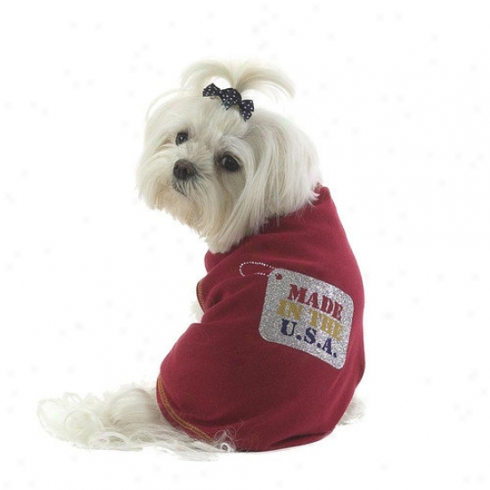 A Pet's World Made In The Usa Sparkle Dog T-shirt