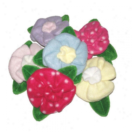A Pet's World Three Assorted Crinkle Petal Blossom Dog Toys