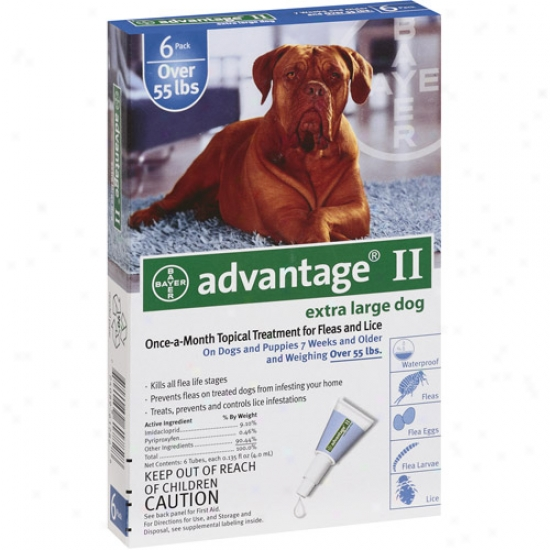 Advantage Ii Flea And Lice Topical Treatment For Dogs Over 55 Lbs, 4ct