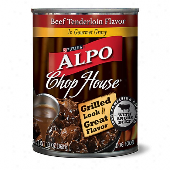 Alpo Jaw House Canned Dog Food, Beef Tenerloin Flavor In Gourmet Gravy, 13 Oz