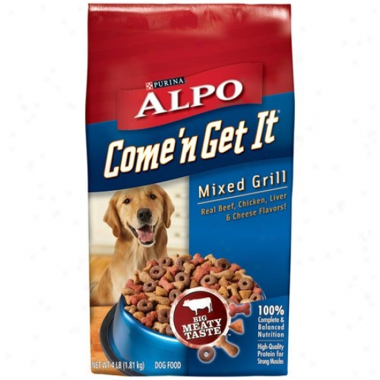 Alpo Come'n Get It Promiscuous Grill Dog Feed, 4 Lb