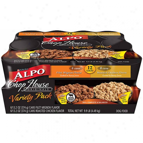 Alpo Wet: Chop House Originals Variery Pk 12 Ct Dog Food,