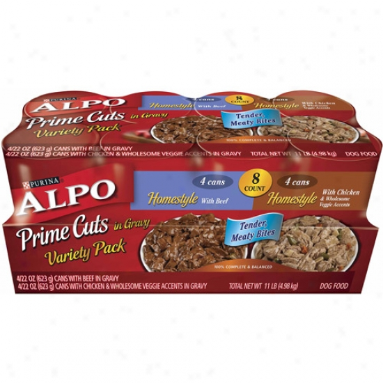 Alpo Rainy weather Prime Cuts Homestyle Variety-pack Canned Dog Food, 8-count