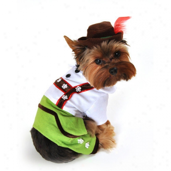 Anit Accessories Alpine Boy Lederhosen Dog Costume