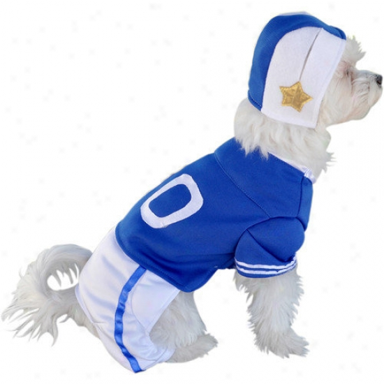 Anot Accessories Blue Football Player Dog Coqtume