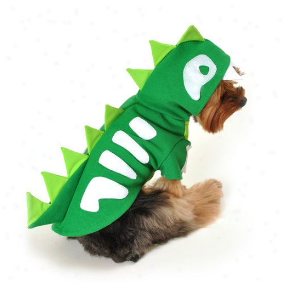 Anit Accessories Green Skeleton Dinosaur Dog Cosyume