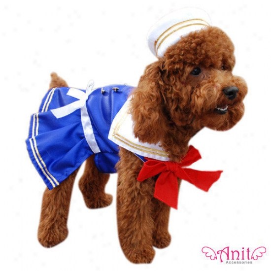 Anit Accessories Sailor Girl Dog Costume