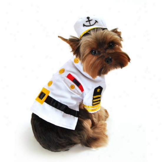 Anit Accessories Sea Capttain Dog Costume