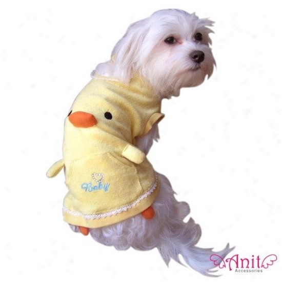 Anit Accessories Squeaker Beak Duck Tank Top Dog Costume