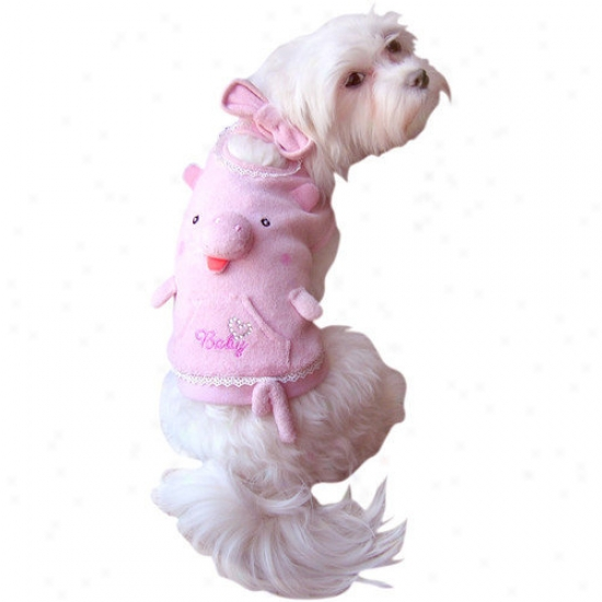 Anit Accessories Squeaker Nose Pig Tank Top Dog Costume